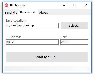 Dosya Transfer Uygulaması Ekran Görüntüsü